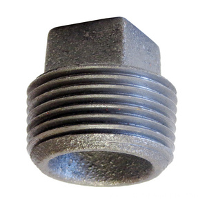 Black Malleable Iron Square Head Plug With BSP Thread