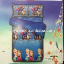 estilo popular congelado para niños juegos de sábanas de microfibra de poliéster 100% tamaño grande 75gsm