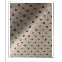 tela estampada de lino y algodón para vestido
