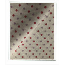 tecido de linho algodão estampado para vestido