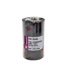 Factory price printer ribbon resin black ttr bar code ribbon outside ink