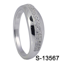 925 anillos de la manera CZ de la plata esterlina S-13567)