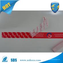 Etiqueta de segurança anti-falsificação profissional anti-falsificação