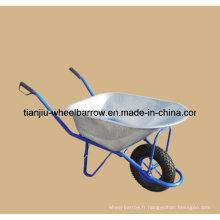 La brouette galvanisée de construction résistante d'outils de ferme Wb6413