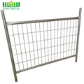 Powder coating galvanized temporary fence