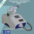 1000W Q switch nd yag tattoo removal machine/tattoo removal Portable nd yag laser