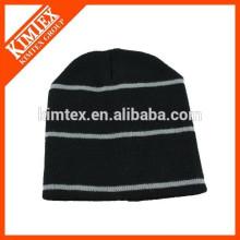 Gros acrylique bon marché bon marché à rayures hip-hop Bonnet chapeau