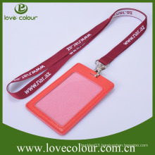 Lanyard accessories leather badge holder with lanyard
