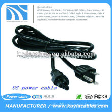 6FT US standard 3-Prong AC Power Supply Cable Adapter Cord For LCD Laptop
