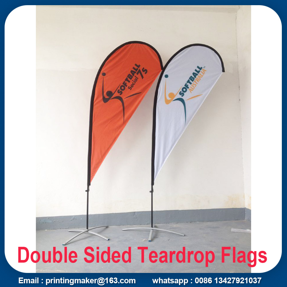 double sided teardrop flags