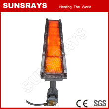 Calentador de gas infrarrojo para línea de pegamento para hornear alfombras
