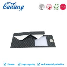 Caixa dobrável personalizada com dobragem lateral