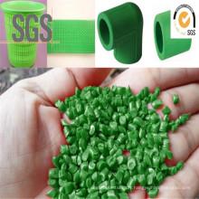 Granules en plastique réutilisés par vert de granules de PE de granules de catégorie de tuyau d'extrusion