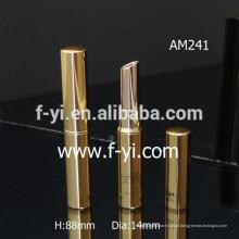 Big Round Atacado Vazio Ouro Tubo Lipstick de alumínio
