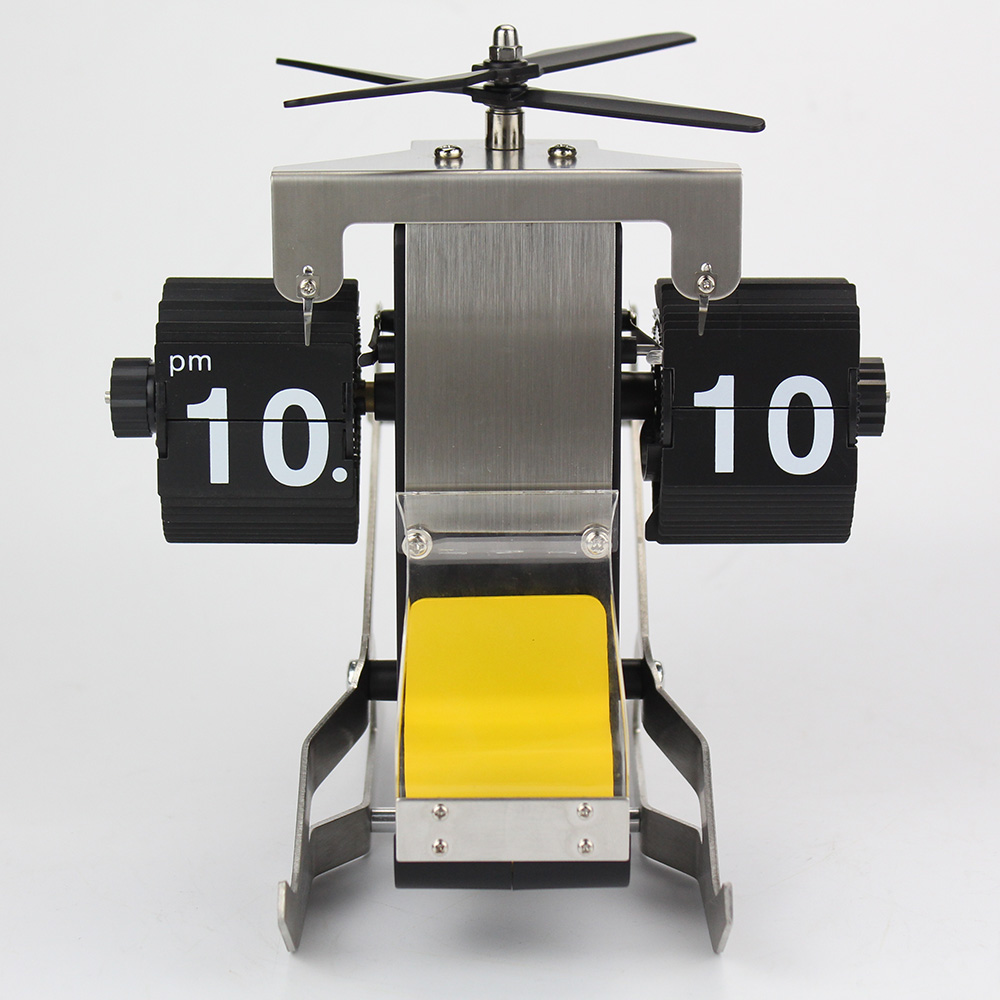 Adorable Helicopter-shape Flip Clock
