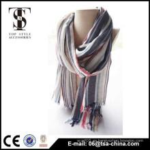 Bufanda larga viscosa caliente de la belleza de la tela escocesa de la tela escocesa del 100%