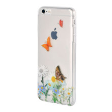 Original design borboleta Clear TPU IMD caso do telefone celular para iPhone6 ​​/ 6plus