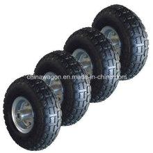 """Pneus pneumatiques de brouette de roue de chariot à camion de 10 """""""