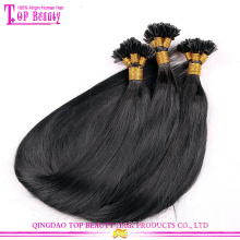 Wholesale Factory Price U Tip Hair Extension Peruvian Hair Straight Unprocessed U Tip Hair