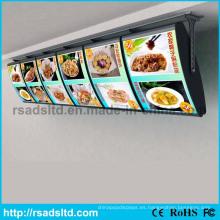 Caja de luz del menú LED de publicidad moderna