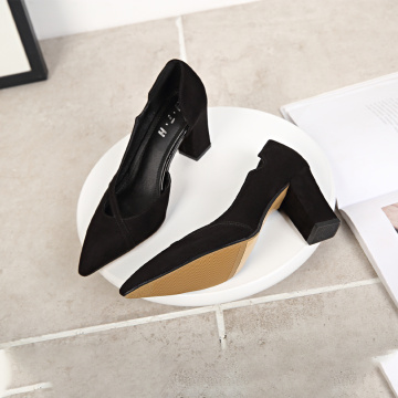 Kobiety Sexy Chunky High Heel Pumps