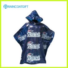 Logotipo de marca personalizado Impreso PE Poncho de lluvia para la promoción
