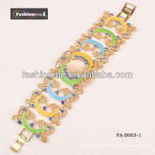 2013 nueva moda llegada hermosa pulsera de la aleación