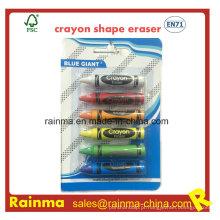 Borracha de forma Crayon para papelaria