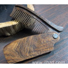 Wholesale Price for Wooden Hair Comb Portable foldable beard comb folding wooden beard comb supply to Guinea-Bissau Exporter