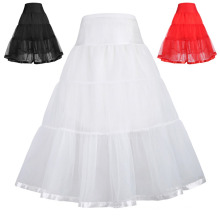 Grace Karin Girls Two Layers Tiered Retro Vintage Dress Crinoline Underskirt Petticoat 1~9Years CL010480
