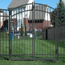 Atacado best selling antique decorativa jardim de ferro fundido portão design