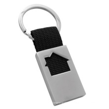 Competitiva Atacado Ribbon Llavero House Keychain com logotipo do cliente (F1067A)