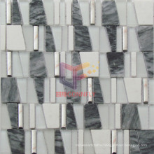 Grey Marble Mix Glass and Metal Mosaic (CS224)