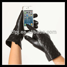 Meilleures ventes Womens Touchscreen Texting Driving Winter Warm Nappa Leather Gloves