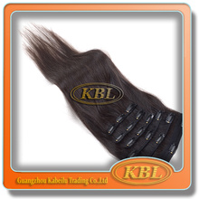 New coming indian remy hair clip in hair extension yaki straight hair can restyle