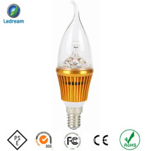 Good Quality LED Candle Light 3W with Tail Lamp Shell
