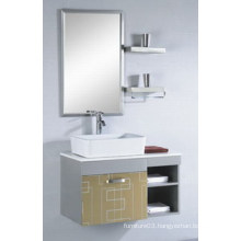 Popular Mirrored Cabinet Stainless Steel Ceramic Basin Bathroom Vanity