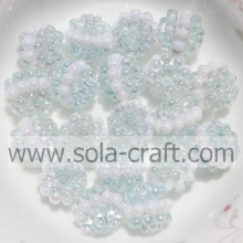 Charm Light Sky Blue Color Imitation Sandwich Berry Beads For Necklace