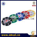 14G Stripe Suited Clay Poker Chip with Customized Sticker (SY-E23)