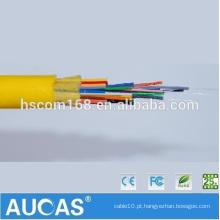 China fabricante Cabo de fibra ótica do único modo do revestimento do PVC GJFJV 24 G.652 cabo de fibra óptica