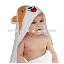 100% de fibra de bambu cão bonito Toalha Com Capuz Qualidade Premium: Ultra Macio, Super Absorvente, X-Grande 90 * 90 cm, para Crianças & bebê toalha de banho