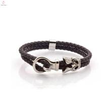 Bracelet en cuir fait sur commande d'enveloppe de mode en vrac pour des hommes