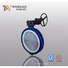 Válvula Borboleta Alinhada PFA com CE ISO Wras Aprovado (D341X-10/16)