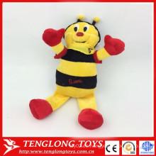 Abeja de la felpa de la fábrica de yangzhou, abeja del abejorro de la felpa, artículos promocionales de la abeja