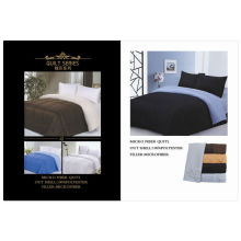 Reversible solid color microfiber comforter