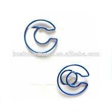 Moda Alta Qualidade Metal Letter Paper Clips