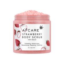 Wholesale Private Label Organic Dead Sea Salt Body Scrub Exfoliating Moisturizing Strawberry Body Scrub