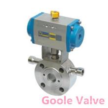 Pneumatc type court a vissé la valve à tournant sphérique flottante (GBQ71F)