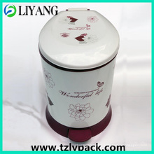 Vivid Flower, Heat Transfer Film for Plastic Pedal Garbage Cans