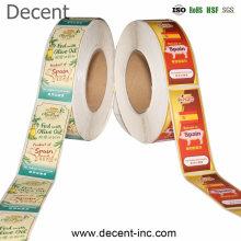 Decent Custom Printed Round Product Sticker, Waterproof Plastic Round Sticker, Adhesive Paper Round Label Sticker